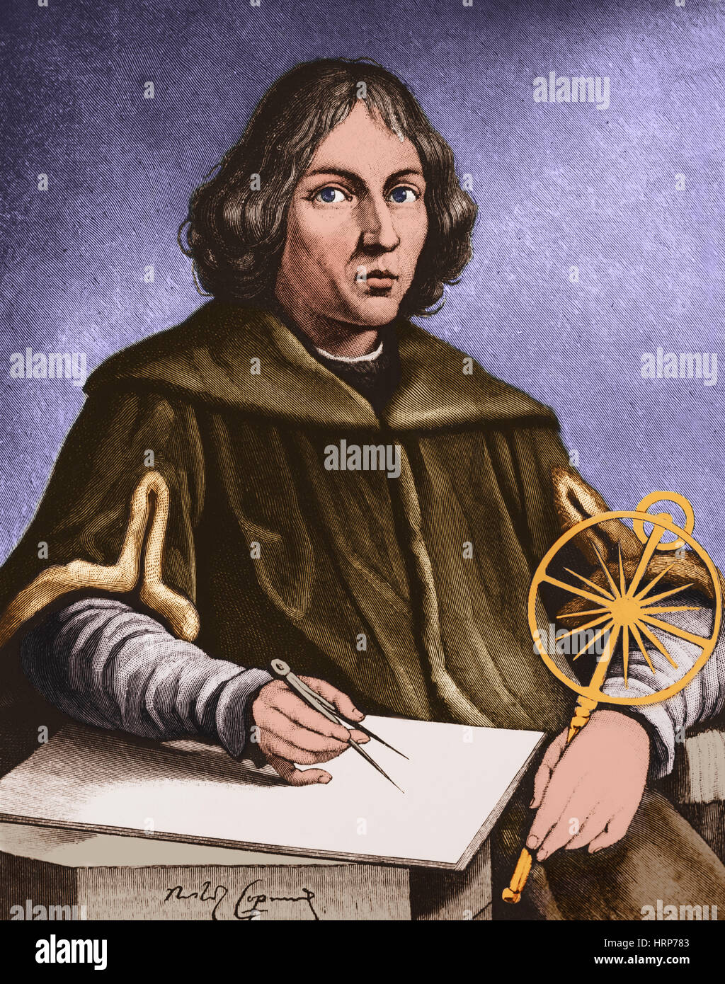 Nicolaus Copernicus Portrait High Resolution Stock