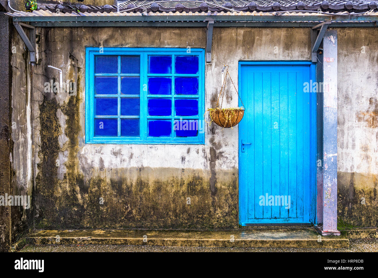 Taipei, Taiwan historic building facade in Military Families Community Park. - Stock Image