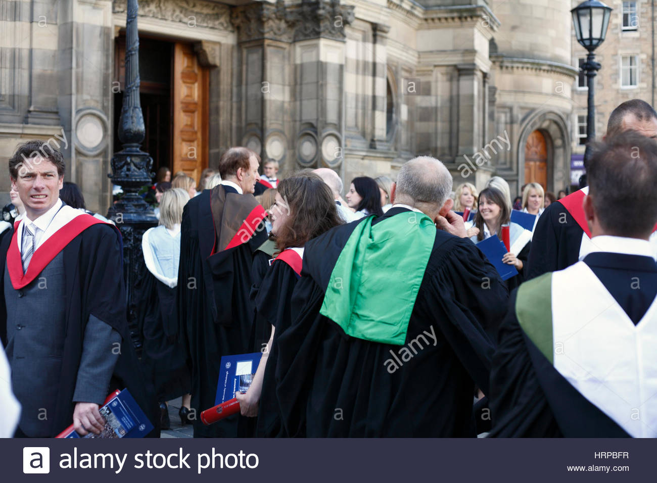 Edinburgh University students graduation day at MCewan Hall. - Stock Image
