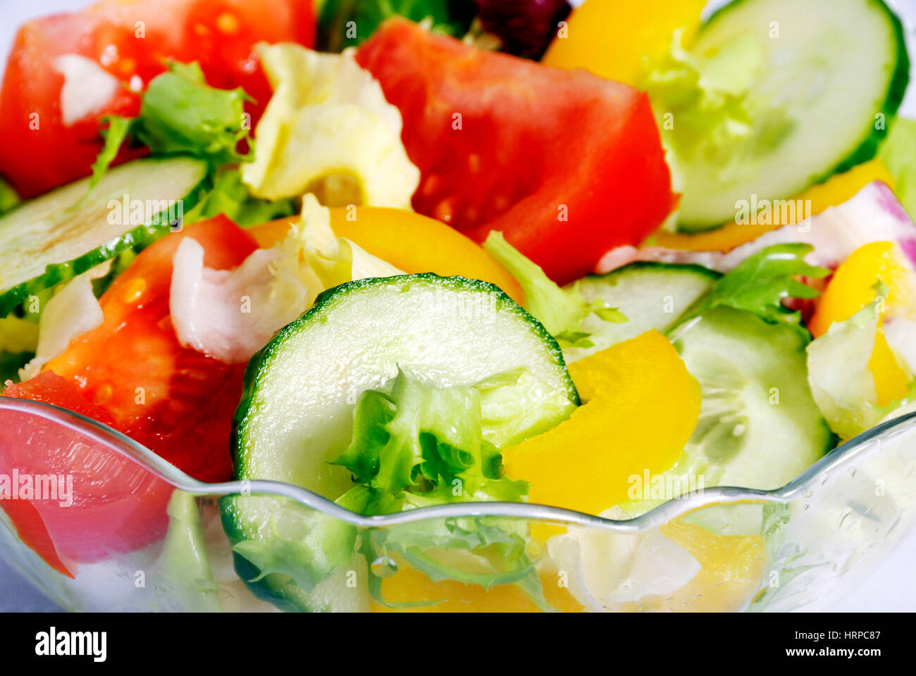 fresh salad in a bowl - Stock Image