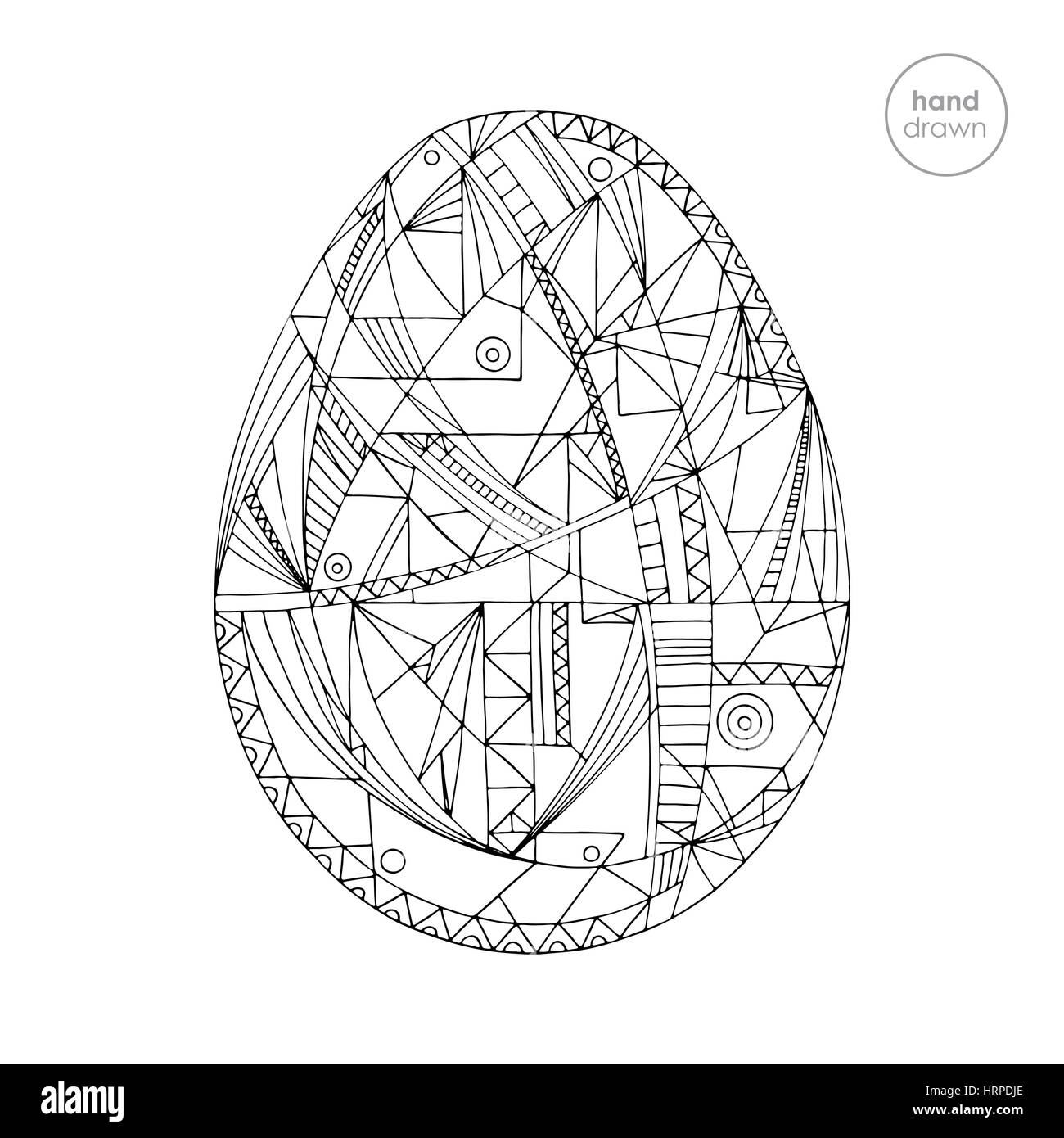 Easter Egg Vector Illustration Hand Drawn Abstract Holidays Design Stock Vector Image Art Alamy
