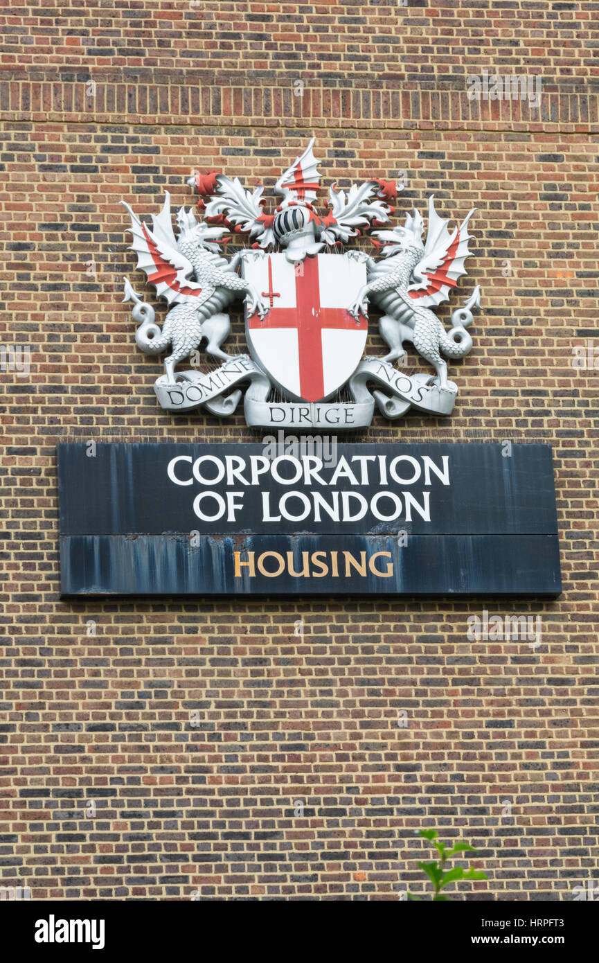 The Corporation of London Coat of Arms - Stock Image