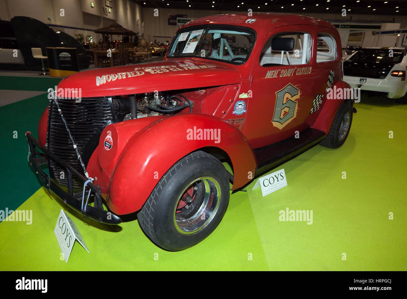 A 1938 Ford Tudor Stockcar,  Ex Niel 'Soapy' Castles. for sale by Coys Auction in Association with Historic - Stock Image