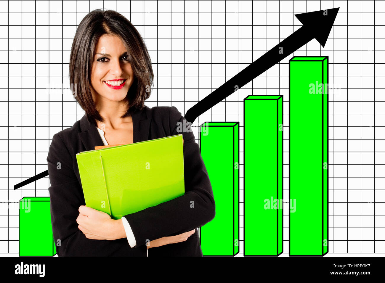 business grouth graph - Stock Image