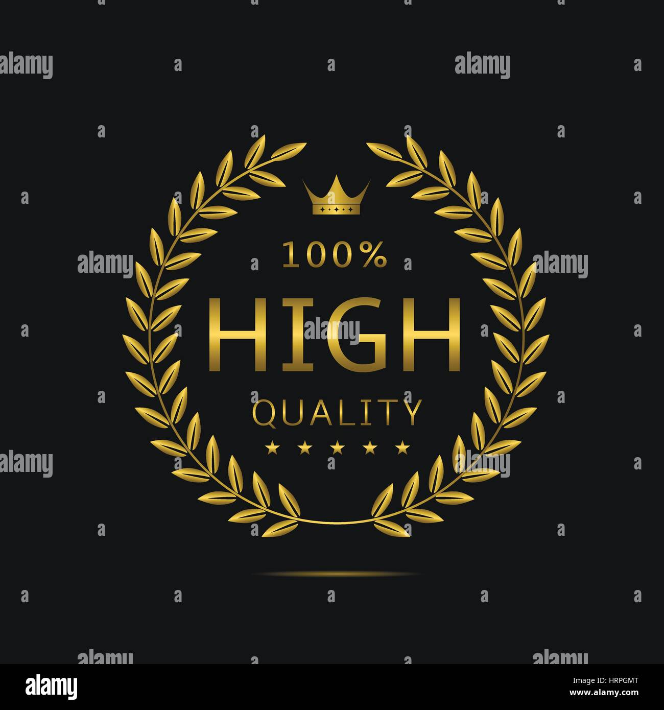 High quality label Stock Vector
