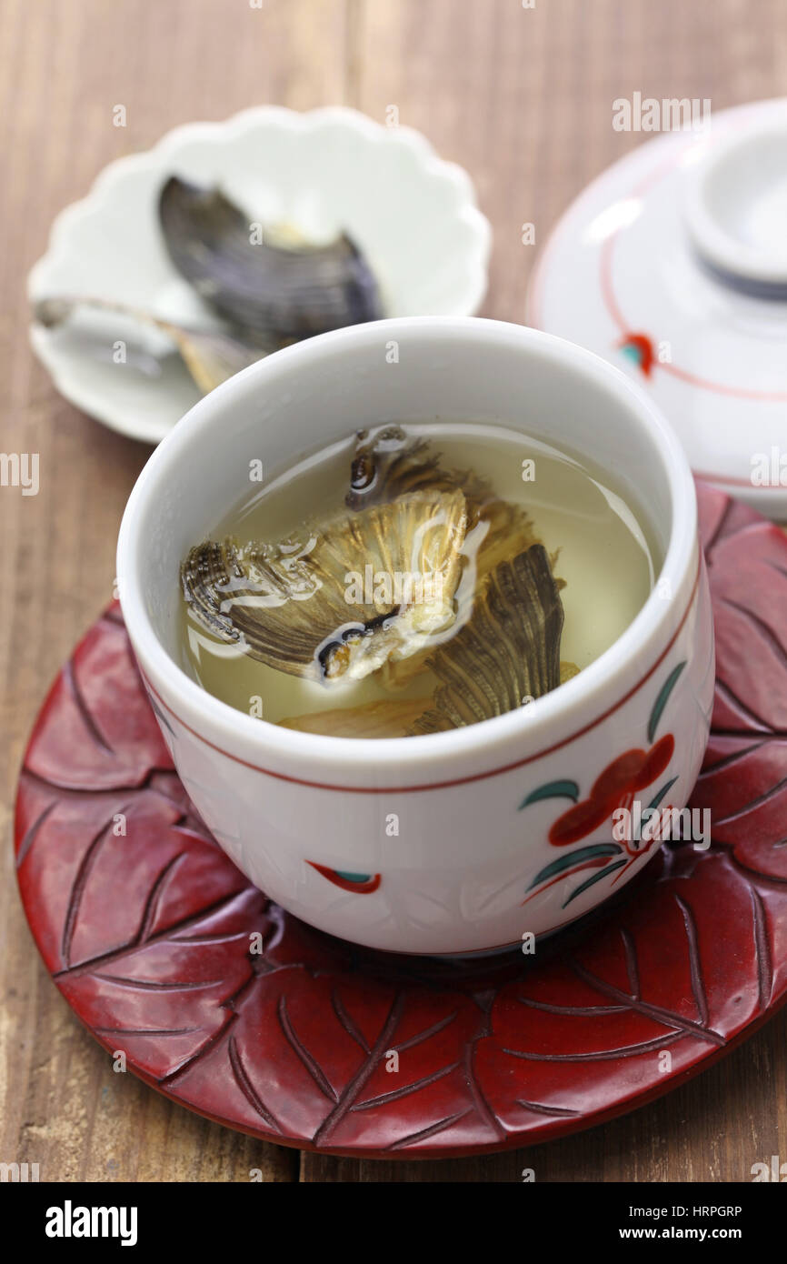 sake flavored with grilled blowfish fins - Stock Image