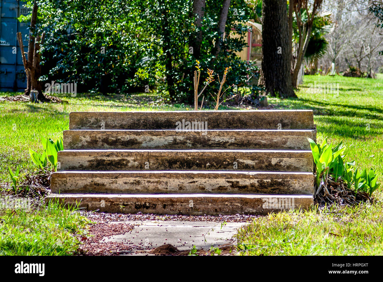 Stairs leading to nowhere - Stock Image