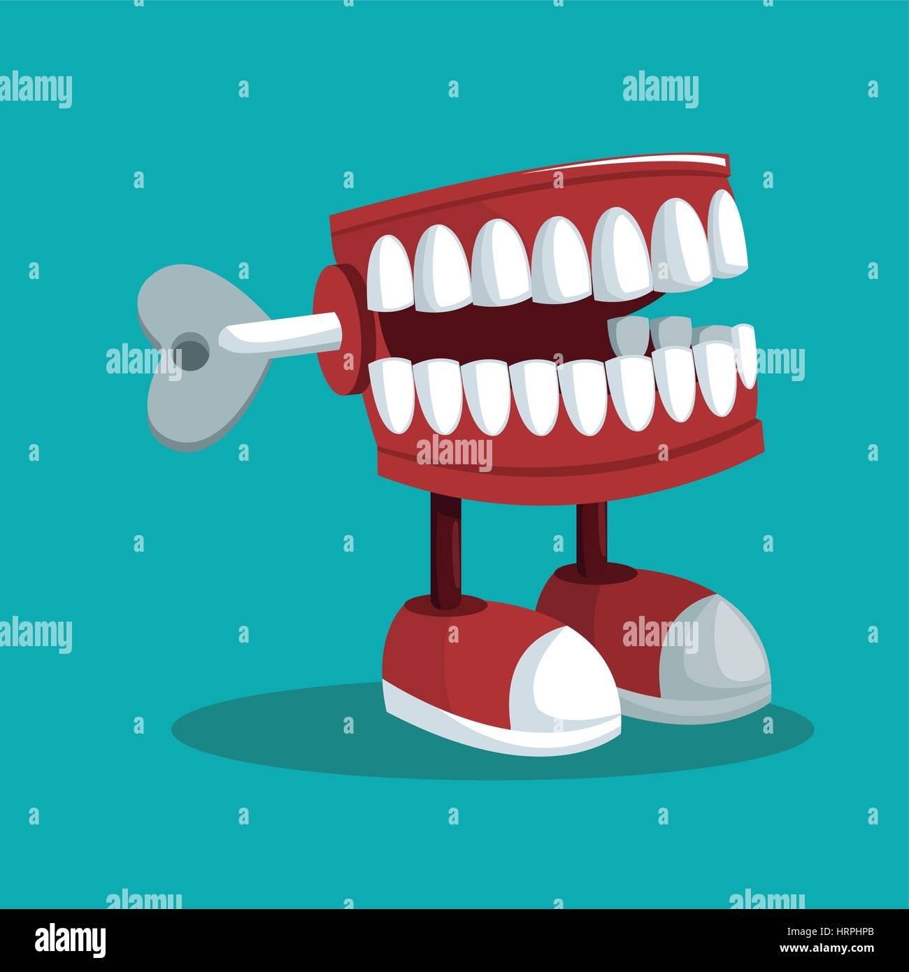 april fools day teeth practical joke Stock Vector