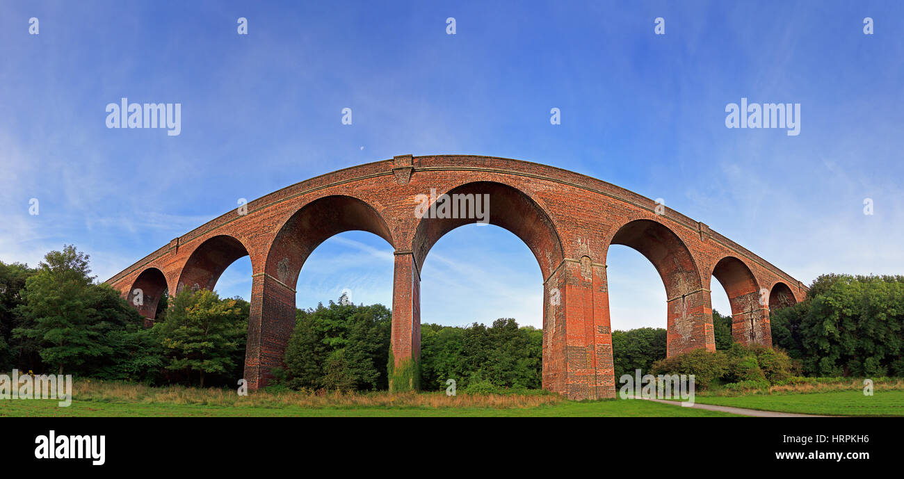 Panoramic image of a Viaduct  with Blue Sky - Stock Image