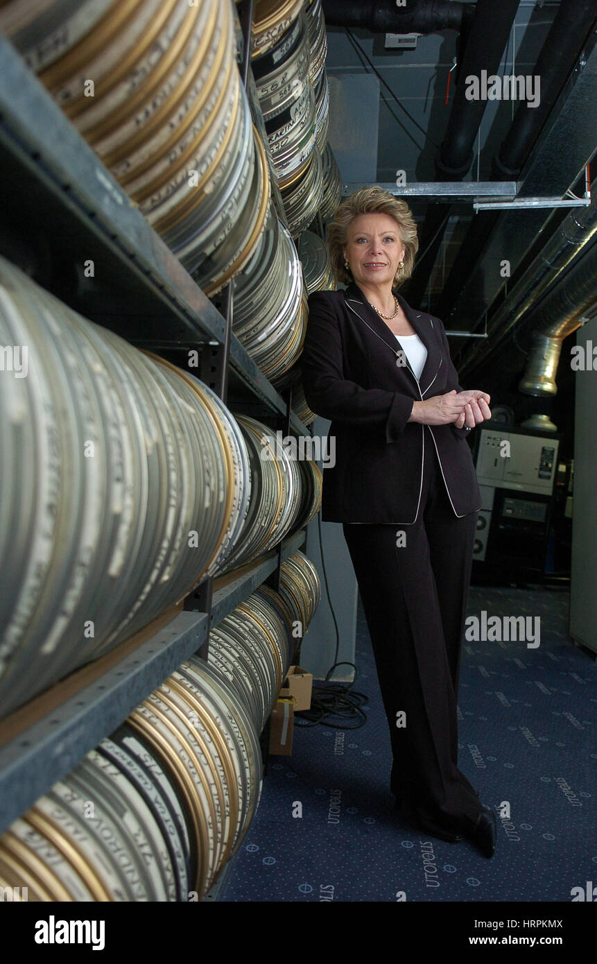Luxembourg, Kirchberg, Viviane Reding,  European Commissioner for Information Society and Media pose for the photographer - Stock Image