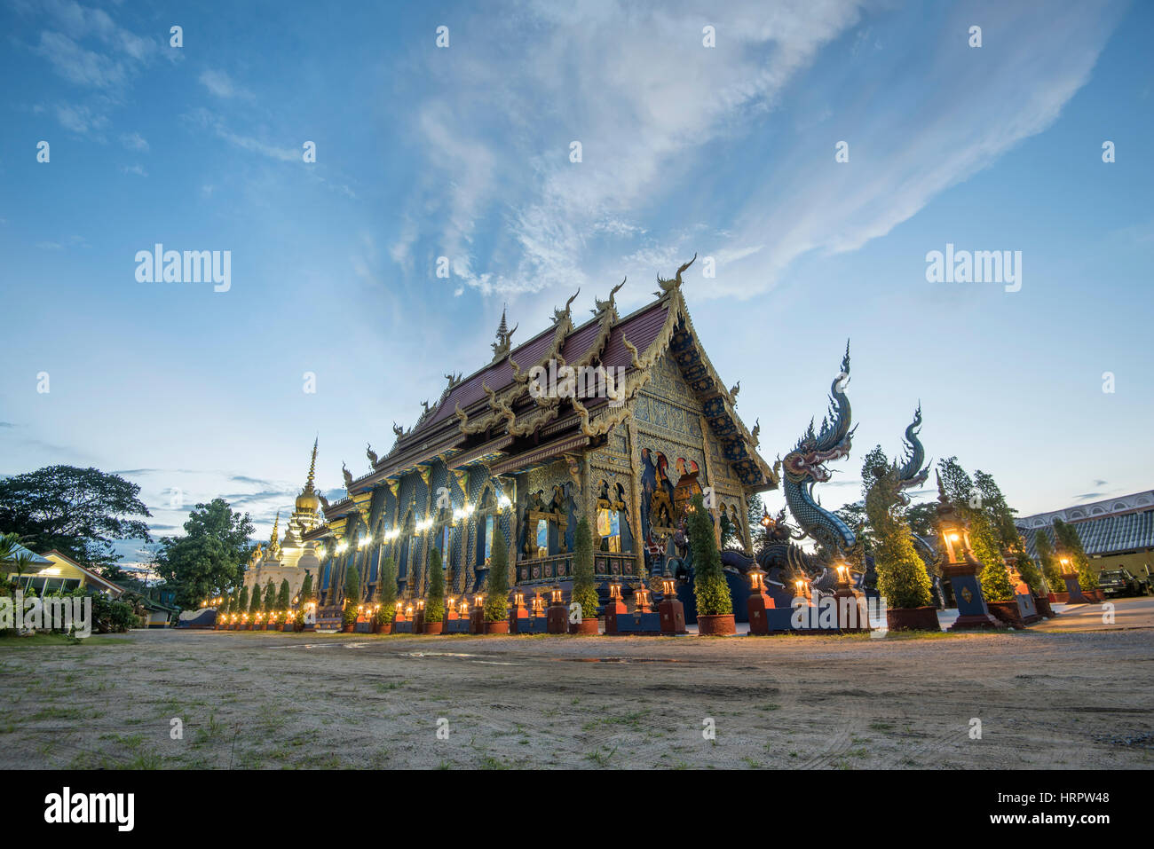 wat rong sua ten temple is the famous place in chiangrai another name is blue temple locate at chiangrai province north of thailand