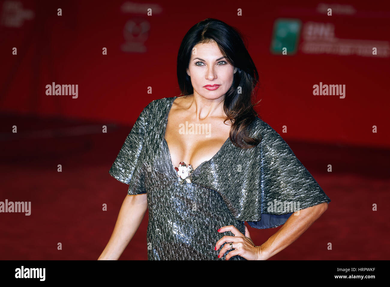 Rome, Italy - October 13, 2016. Nadia Bengala walks a red carpet for 'Moonlight'. - Stock Image