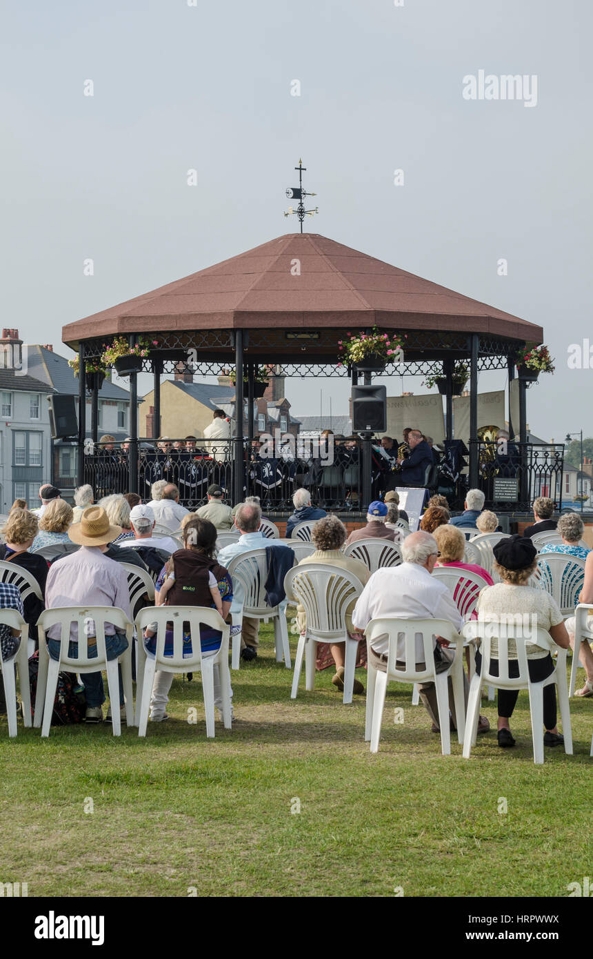The Deal Memorial Bandstand - Stock Image