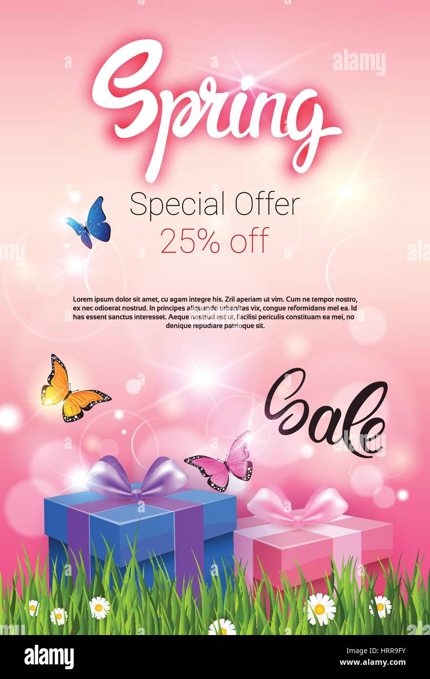 0013d3776ee Spring Sale Shopping Special Offer Holiday Banner Stock Vector Art ...