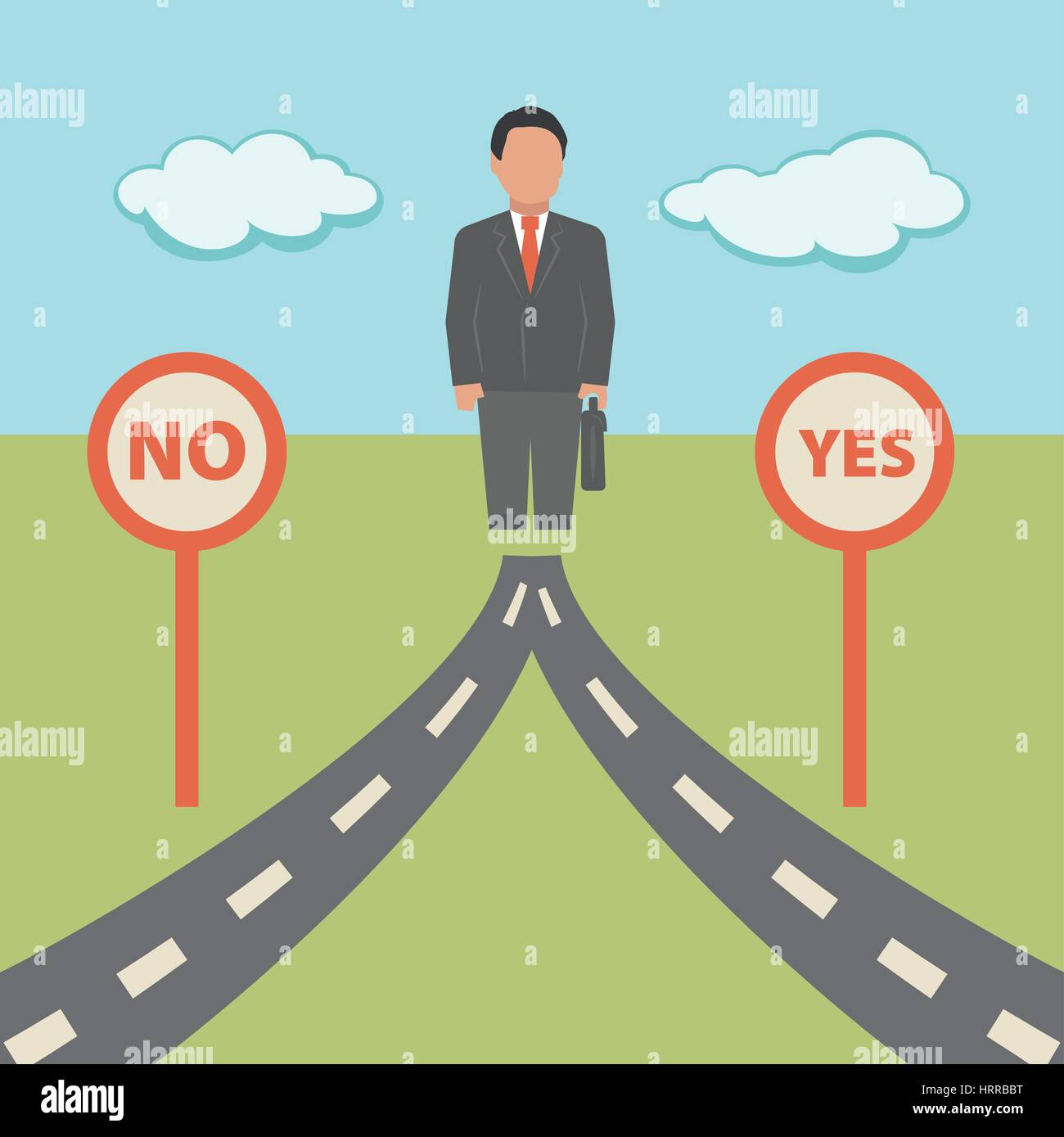 No Yes solution. Concept business illustration - Stock Image