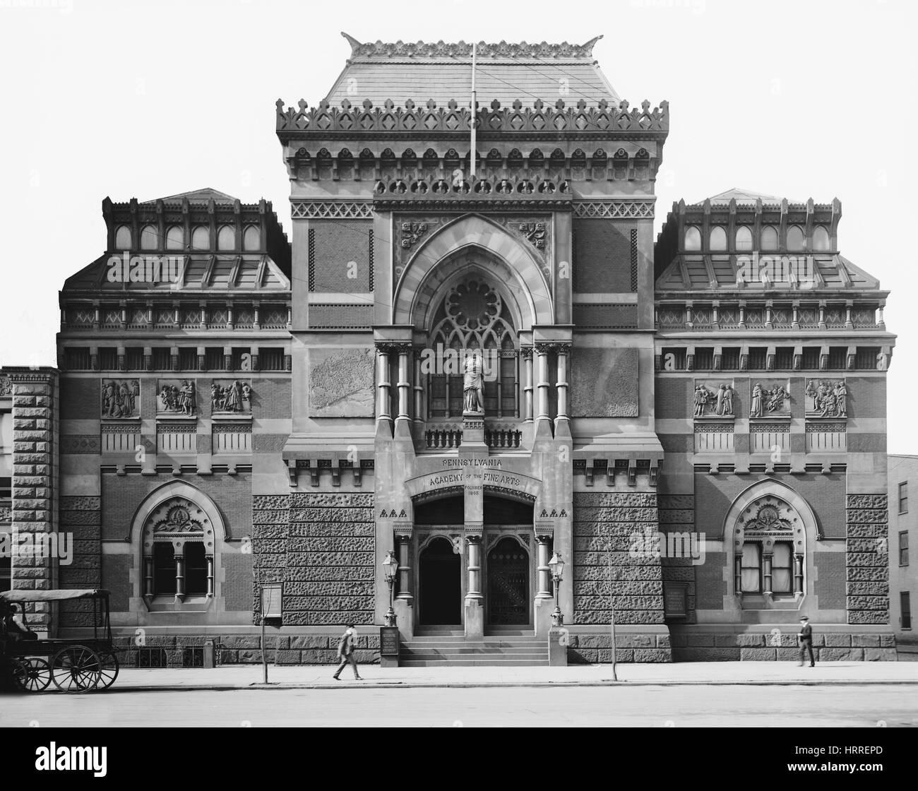 Pennsylvania Academy of Fine Arts, Philadelphia, Pennsylvania, USA, Detroit Publishing Company, 1905 - Stock Image