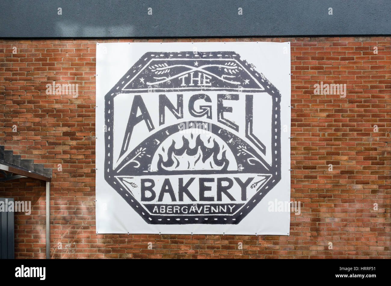 The new Angel Bakery at the Angel Hotel in Abergavenny, Monmouthshire, Wales - Stock Image