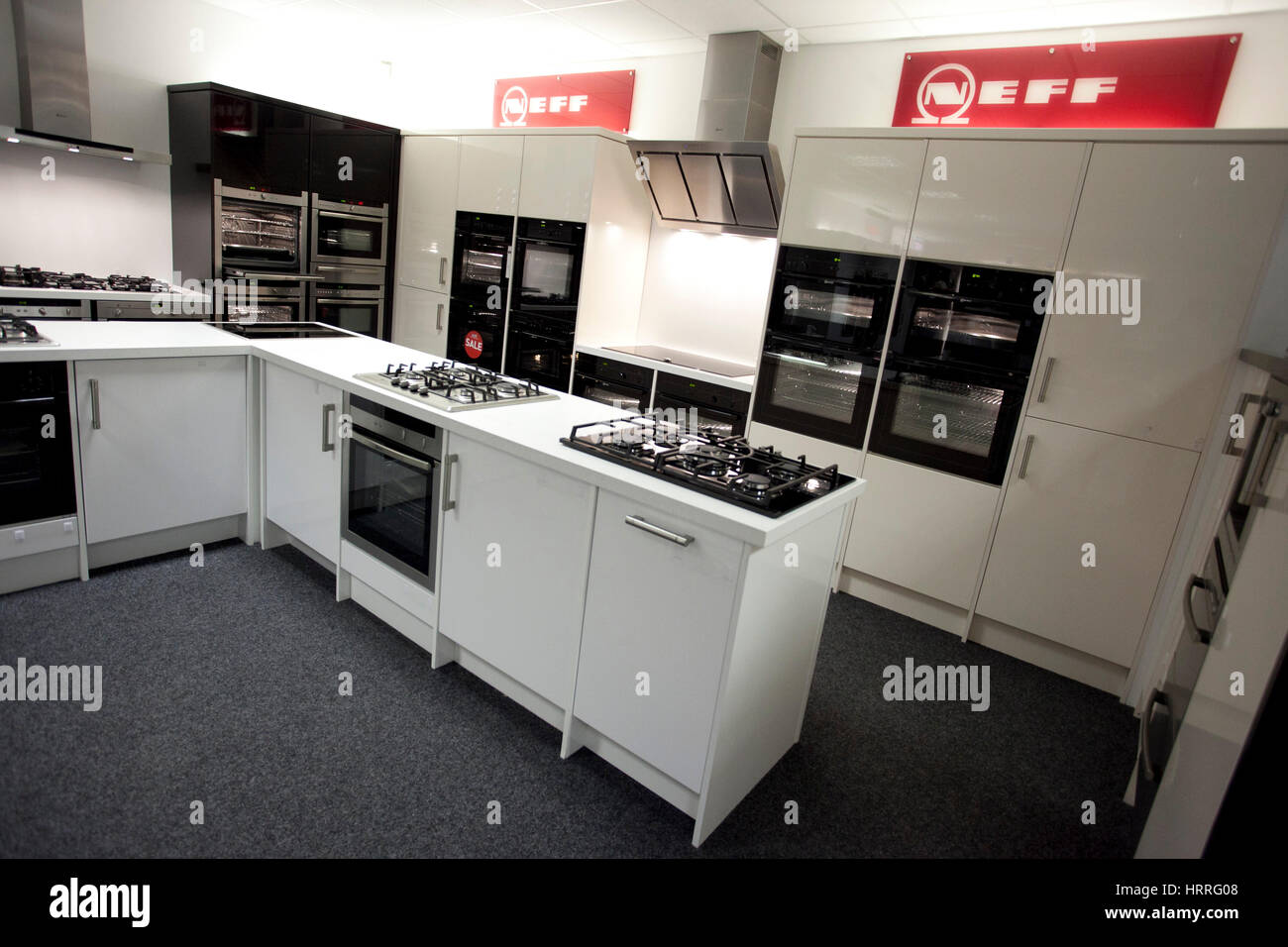 Neff Domestic Appliances In A Showroom   Stock Image