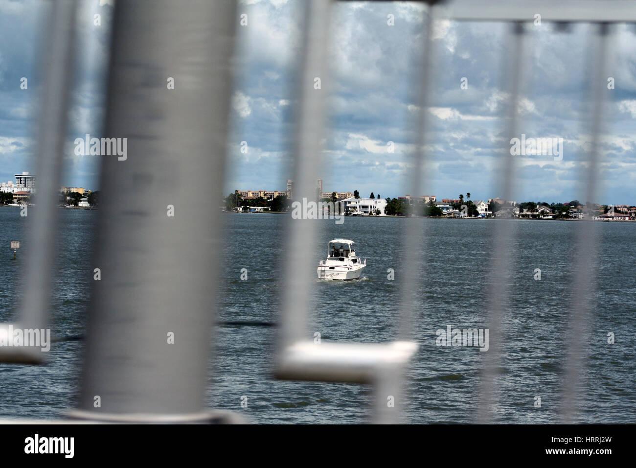 Boat in Tampa - Stock Image