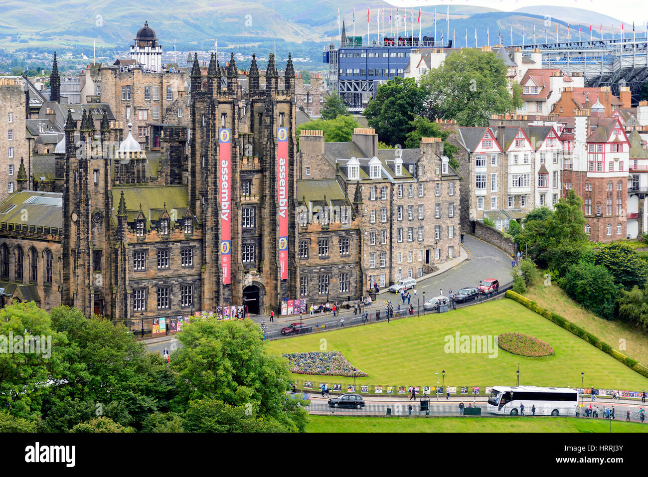 Edinburgh, Scotland - August 15, 2014: View of General Assembly ...