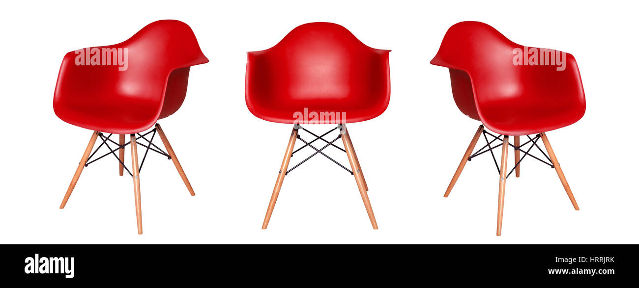 Tremendous Modern Red Chair Stool Isolated On White Background View Beatyapartments Chair Design Images Beatyapartmentscom