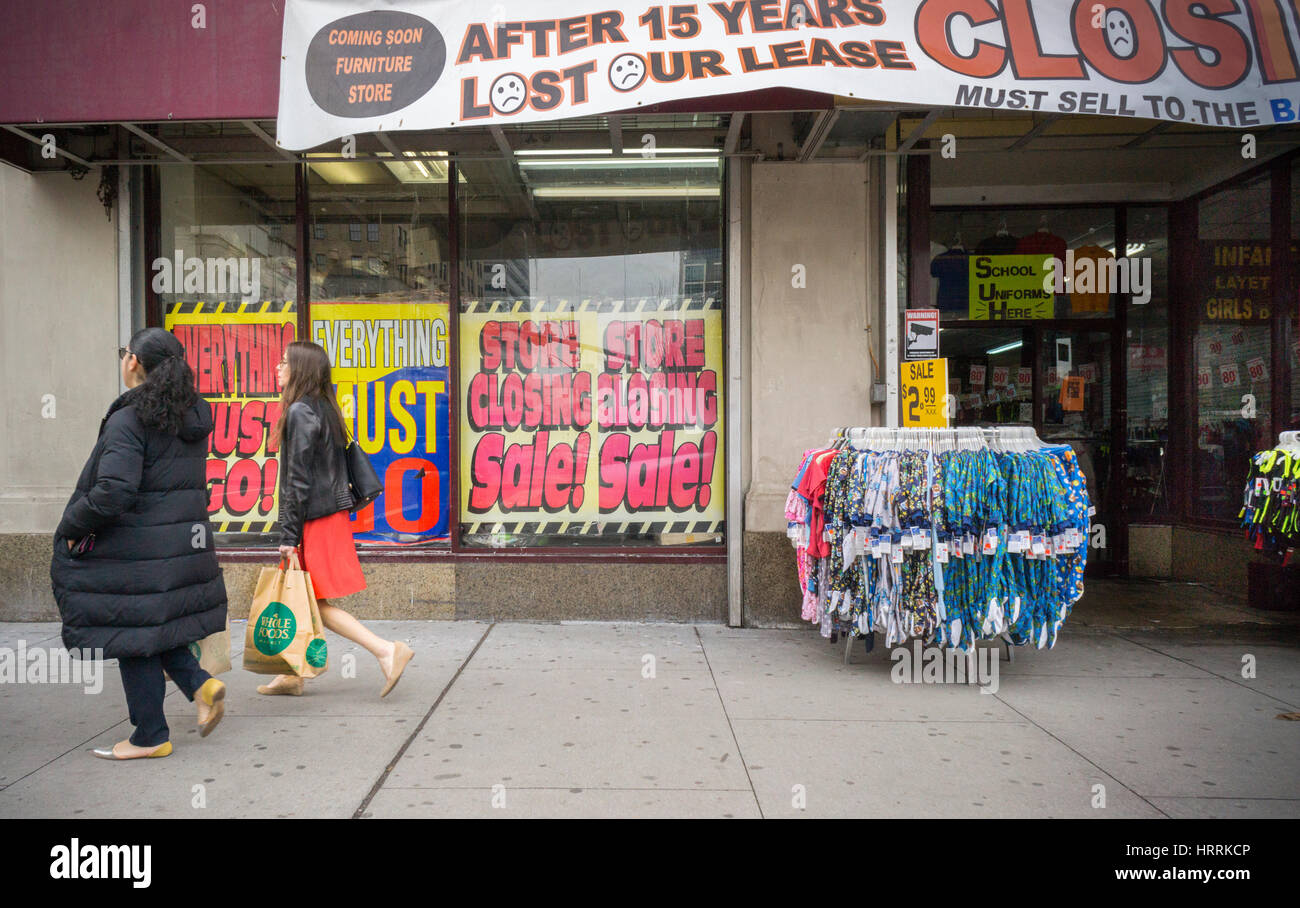 A Clothing And Dry Goods Store In Newark, NJ Informs Shoppers Of The  Bargains Within Due To Their Losing Their Lease And Having To Close, Seen  On Wednesday, ...