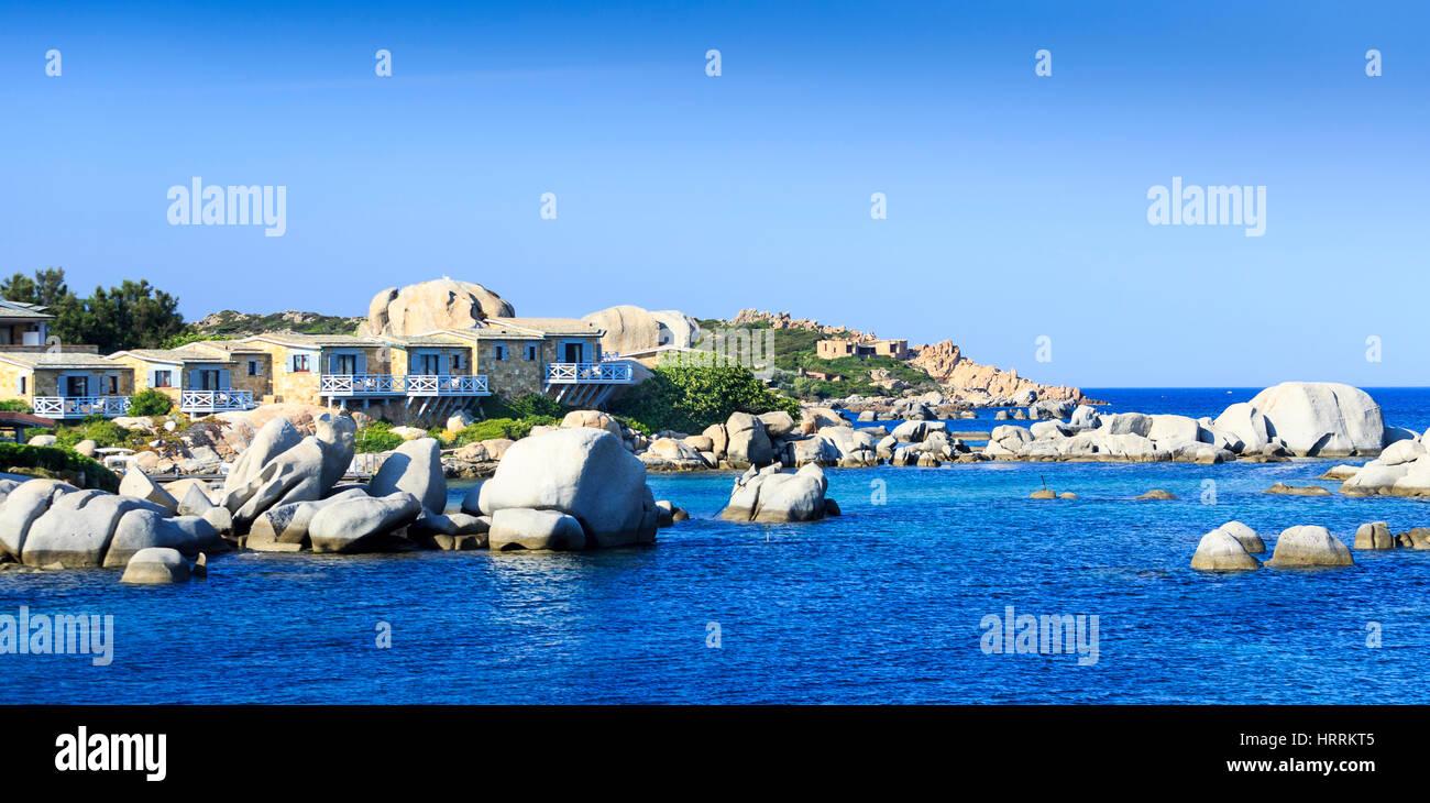 Hotel Les Pecheurs, Cavallo Island, Corsica, France Stock Photo
