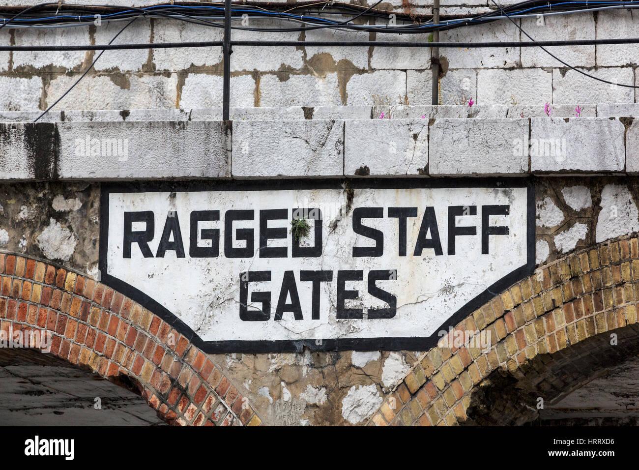 Ragged Staff Gates - Stock Image