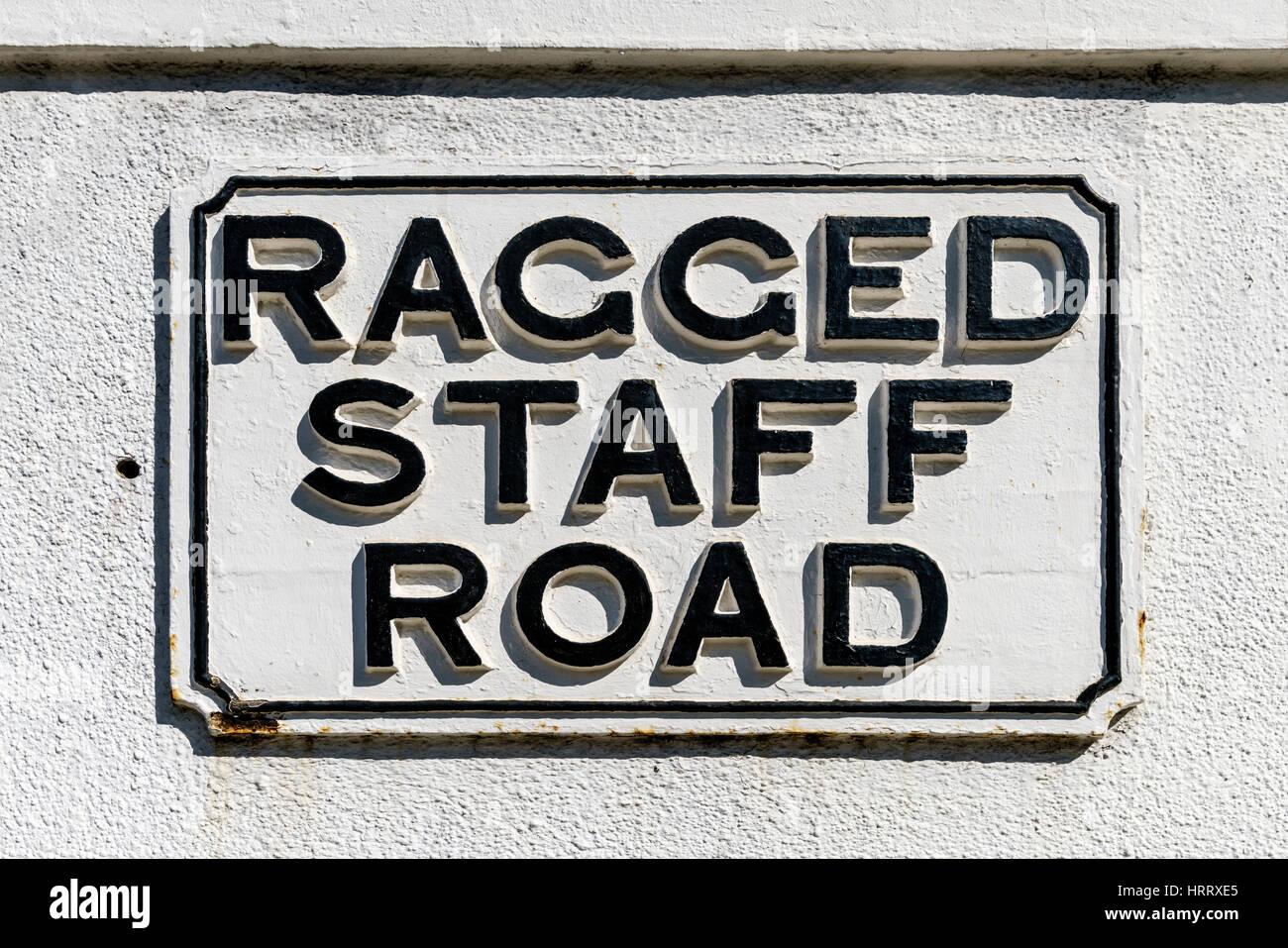Ragged staff road - Stock Image