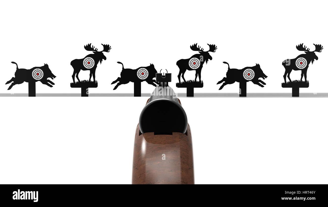 Animal target - Stock Image