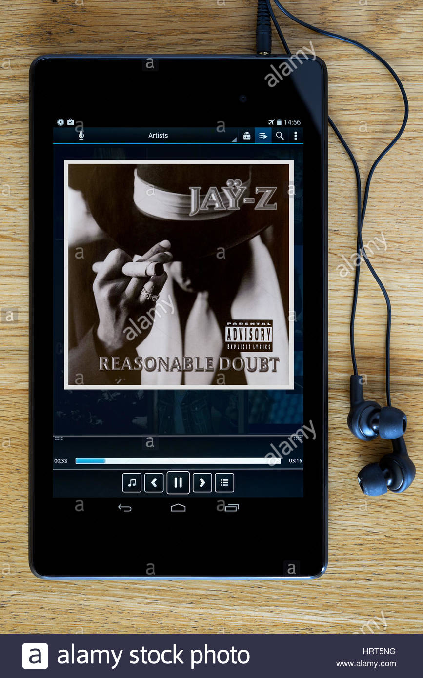 Jay Z 1996 debut album Reasonable Doubt. - Stock Image