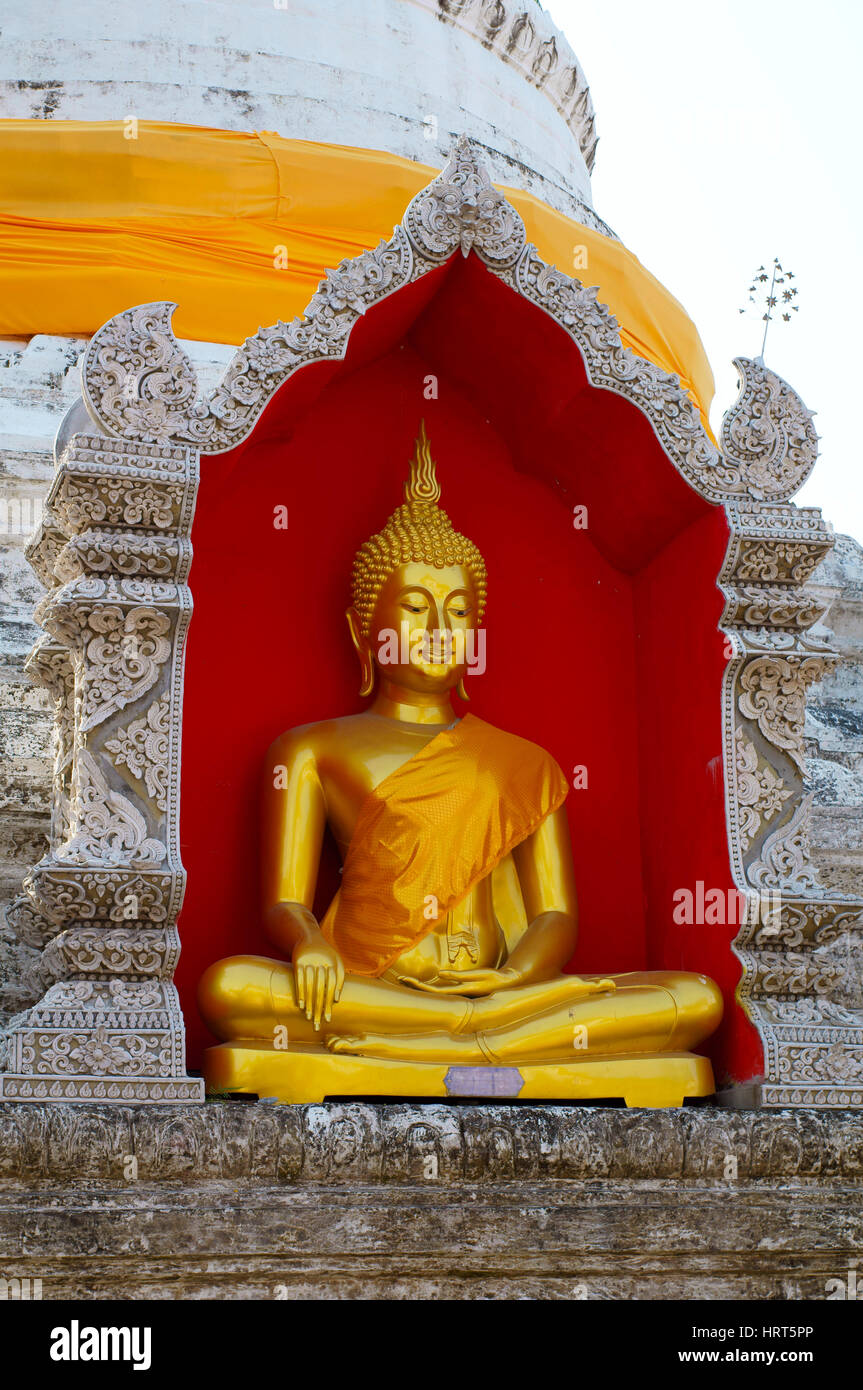 Wat Buppharam Stock Photo