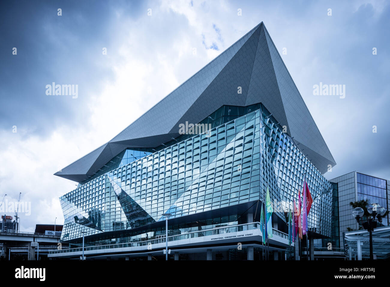 The New International Convention Centre in Darling Harbour, Sydney - Stock Image