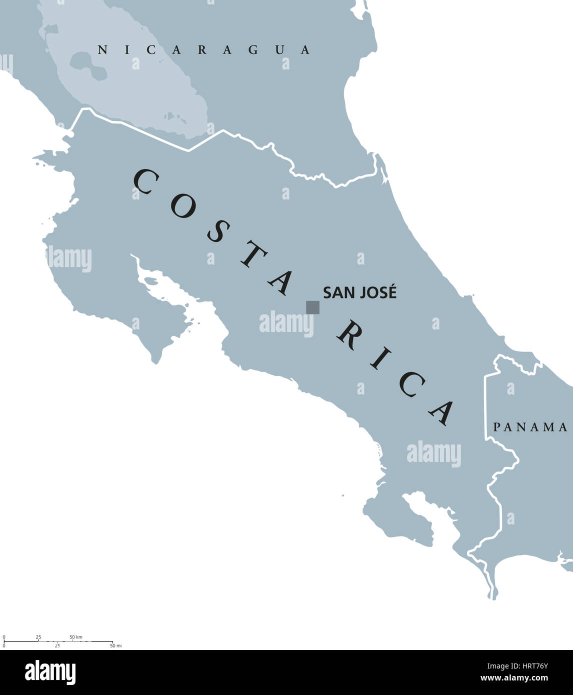 Map Costa Rica Stock Photos & Map Costa Rica Stock Images - Alamy