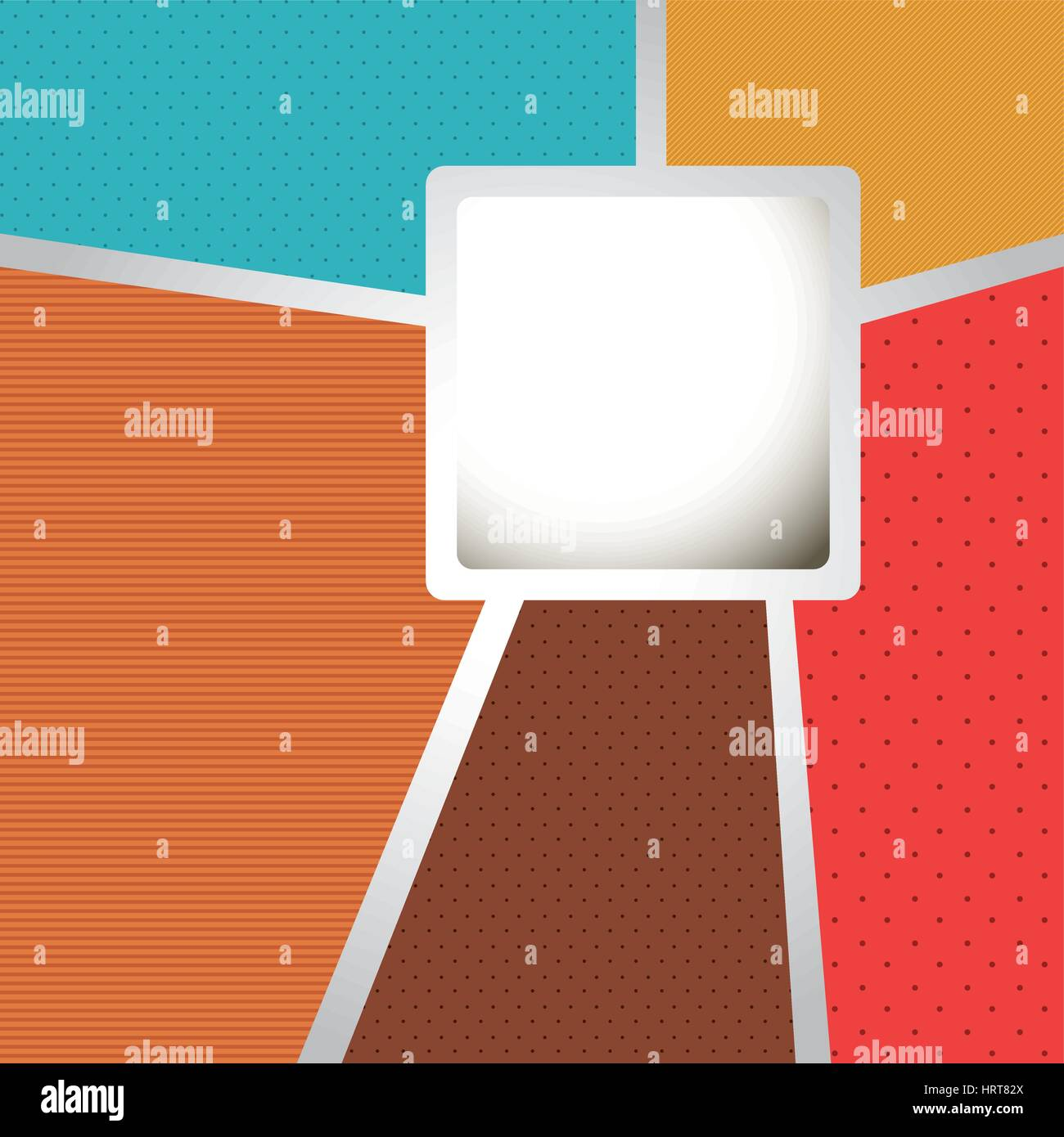 colors with squard background icon - Stock Vector