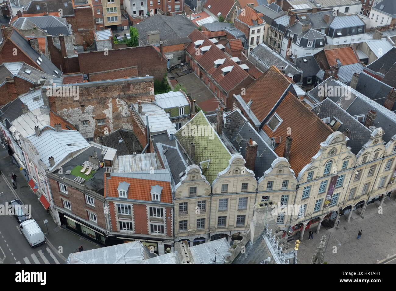 Arras from the Belfry Tower, France - Stock Image