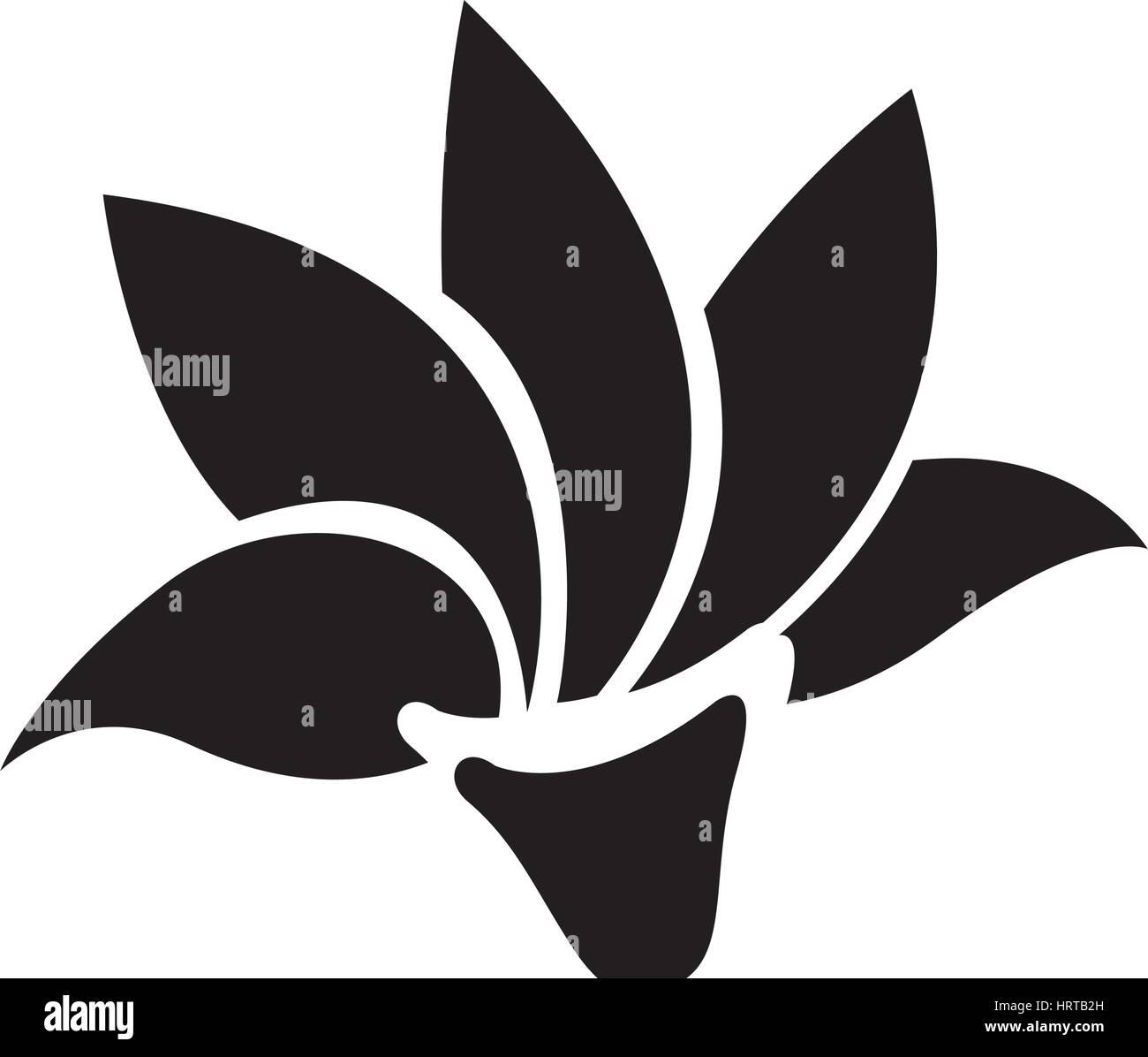 Icon Lotus Flower Silhouette Simple Stock Photos Icon Lotus Flower