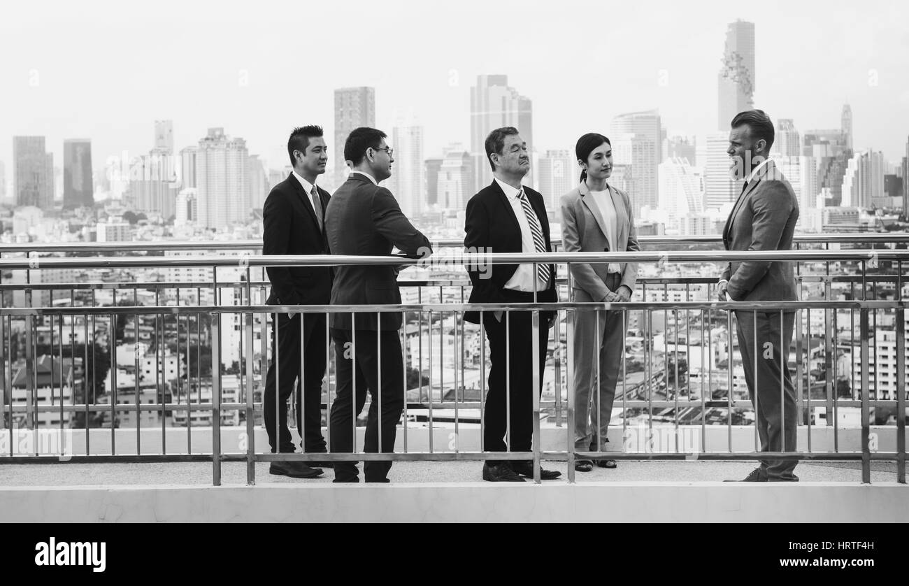 Business Briefing Diversity Presenting Showing - Stock Image