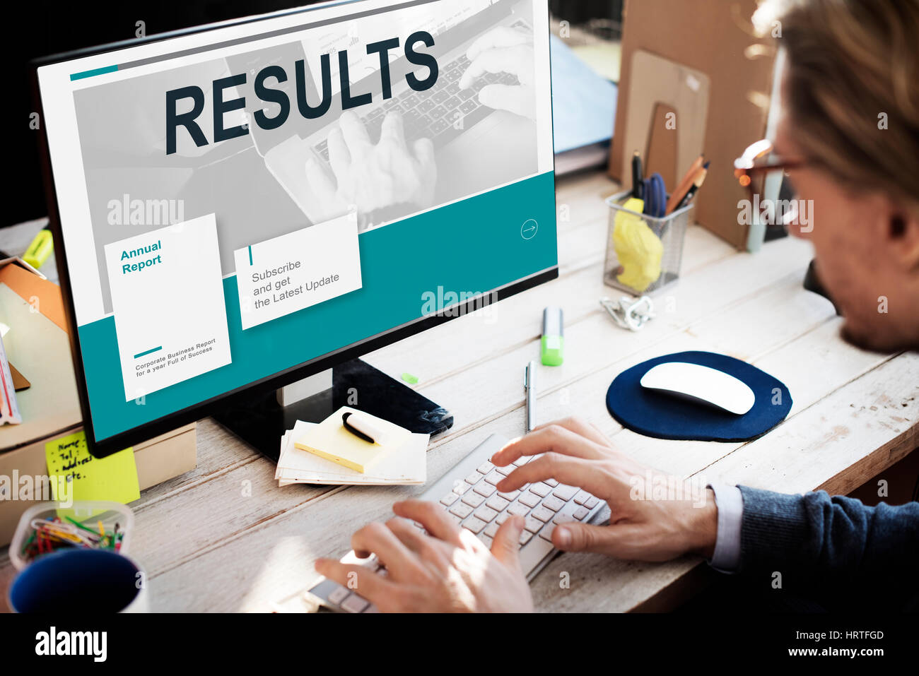 Results Statistic Research Data Analysis Concept - Stock Image