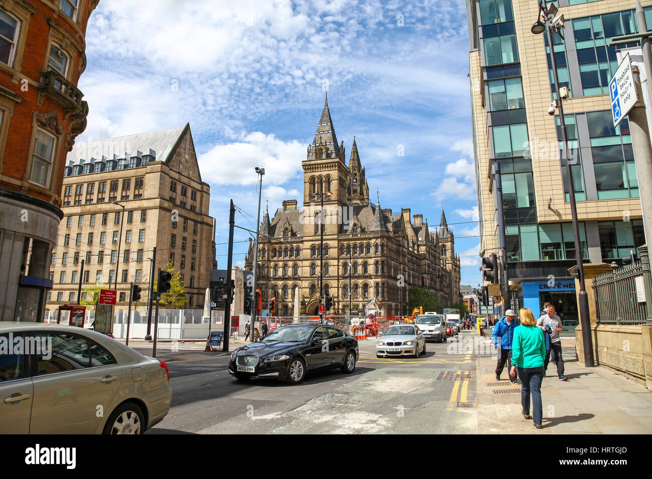 Manchester Town Hall and Extension Manchester city centre Manchester England UK - Stock Image
