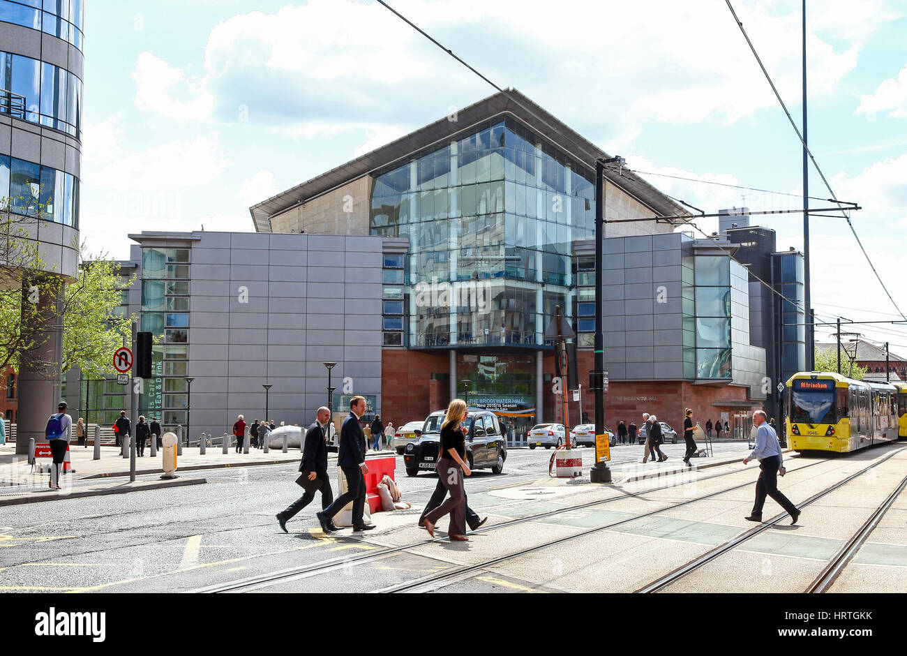 Bridgewater Hall, Barbirolli Square, Manchester City centre, England UK - Stock Image