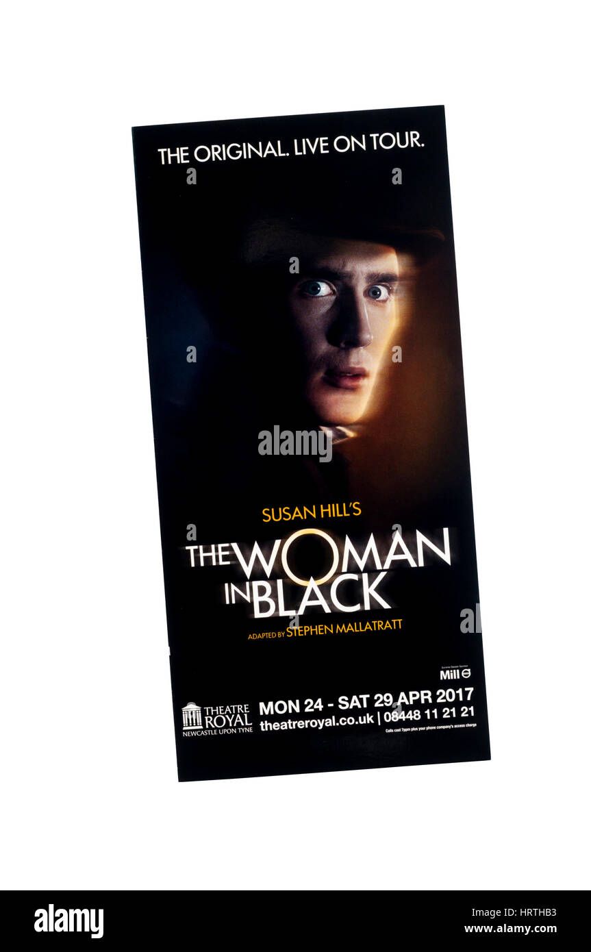 Promotional flyer for 2017 touring production of The Woman in Black by Susan Hill. - Stock Image