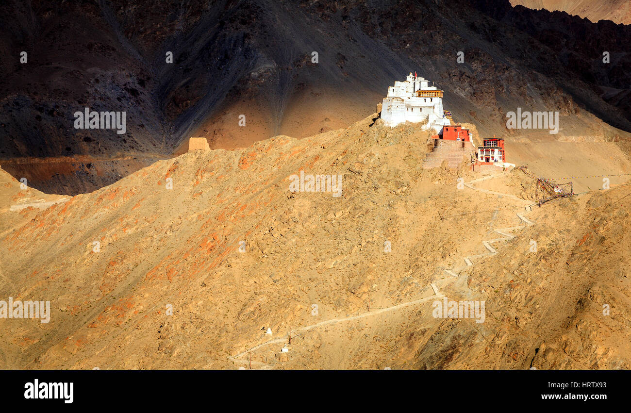 Sankar Buddhist Monastery in Leh, Ladakh, India - Stock Image
