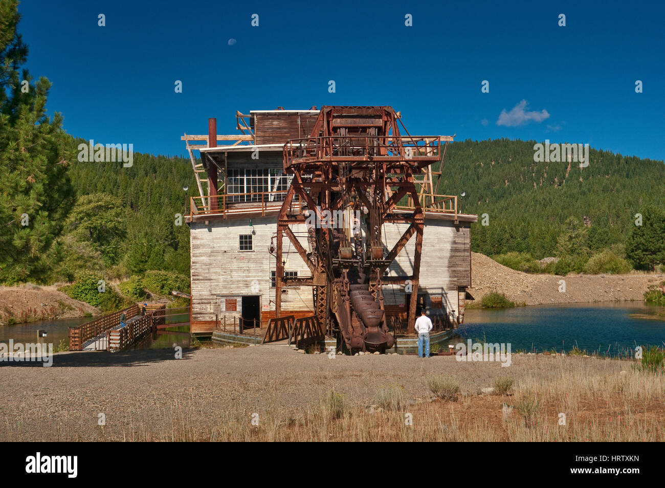 Historic gold mining dredge in Sumpter in Blue Mountains, Oregon, USA - Stock Image