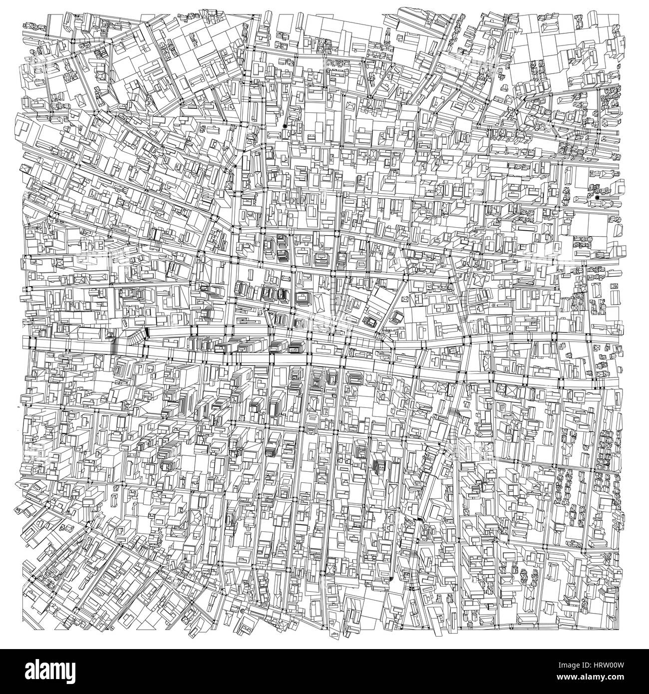 Wire frame city blueprint style vector stock vector art wire frame city blueprint style vector malvernweather Gallery