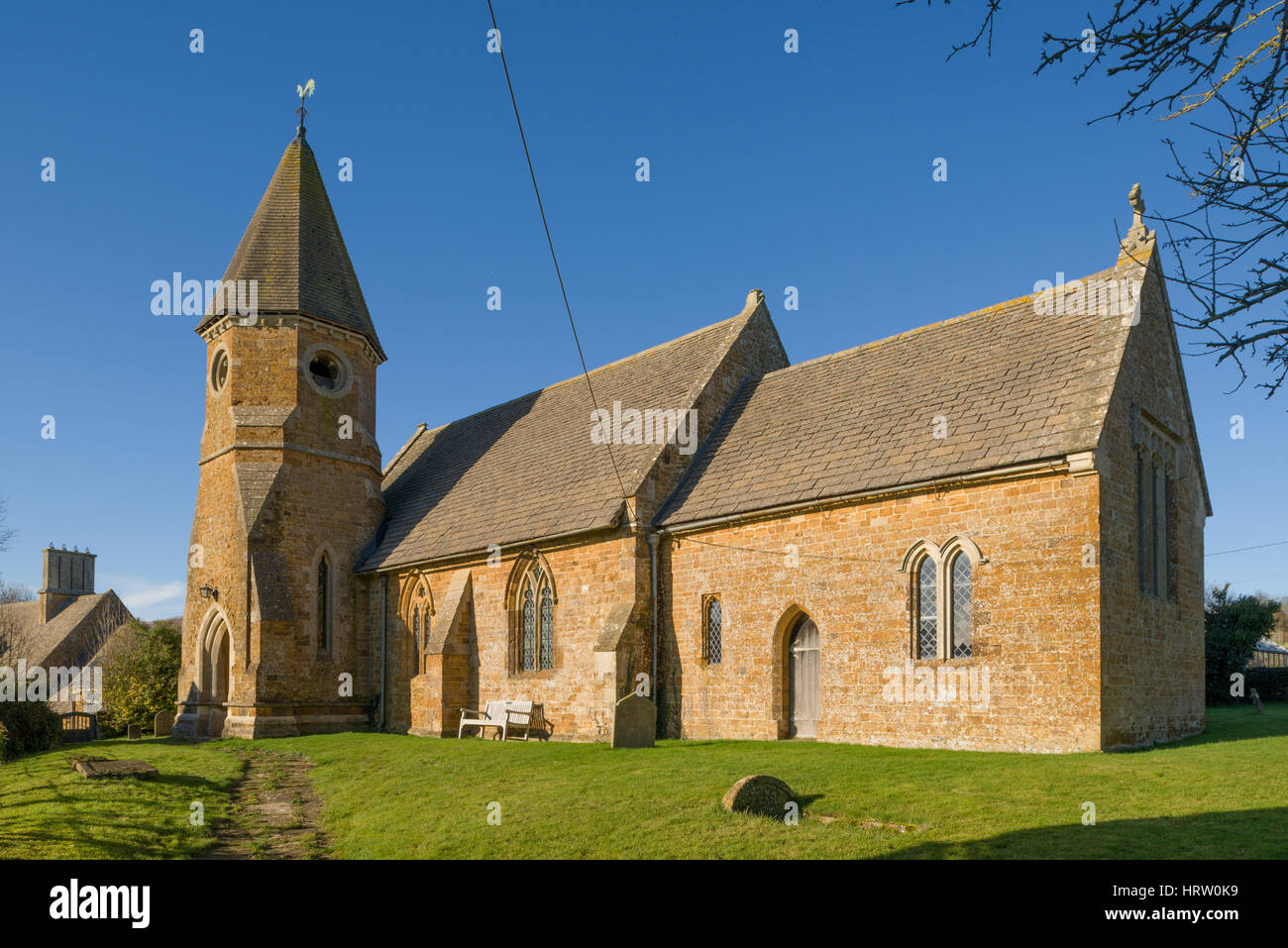 St. John`s Church, Barford St. John, Oxfordshire, England, United Kingdom - Stock Image
