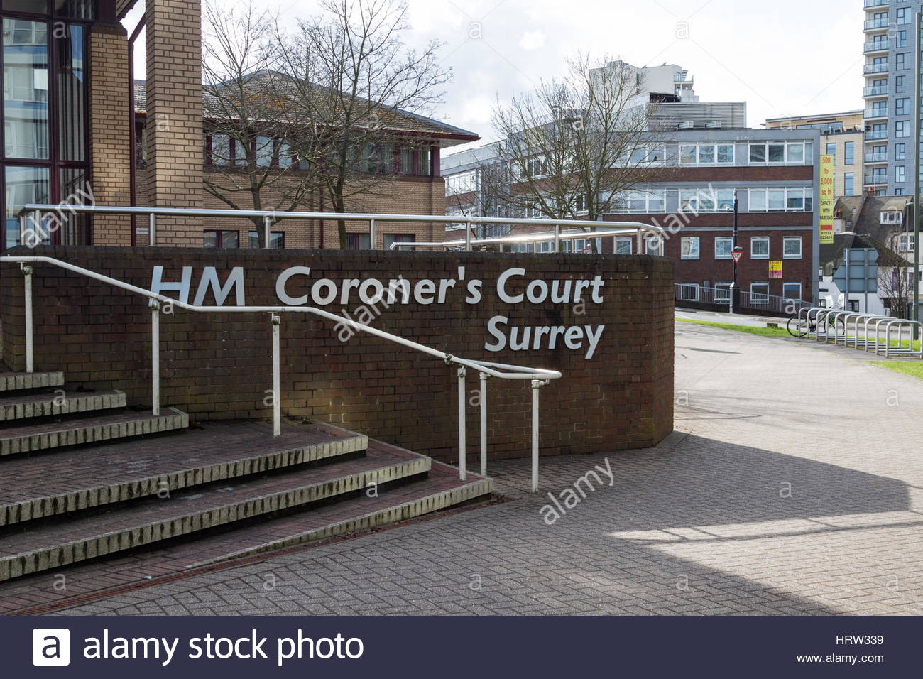 Woking Coroner's Court is scheduled to begin an Inquest into the death of Alexander Perepilichnyy the Russian - Stock Image
