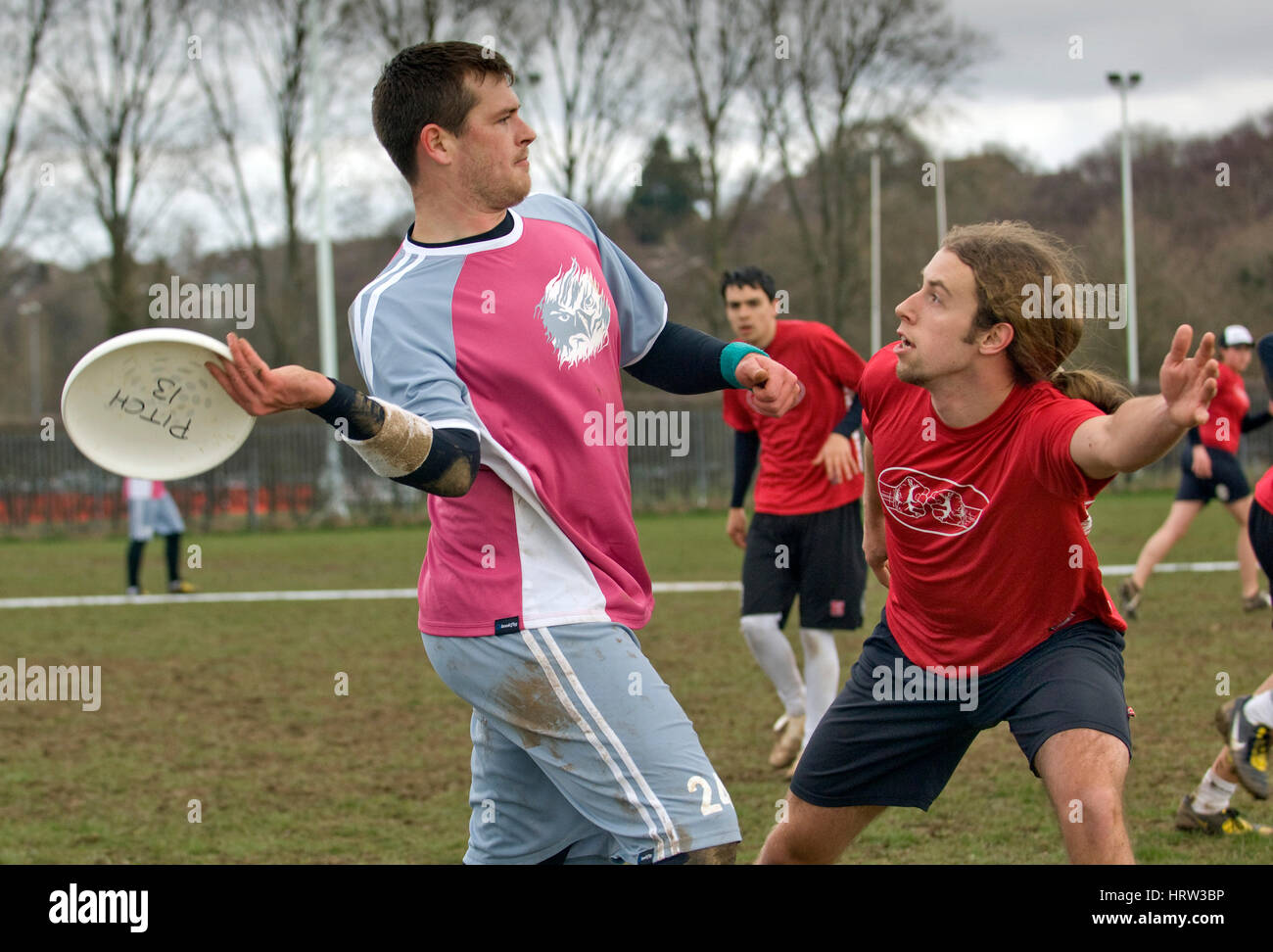 Frisbee team match - Stock Image