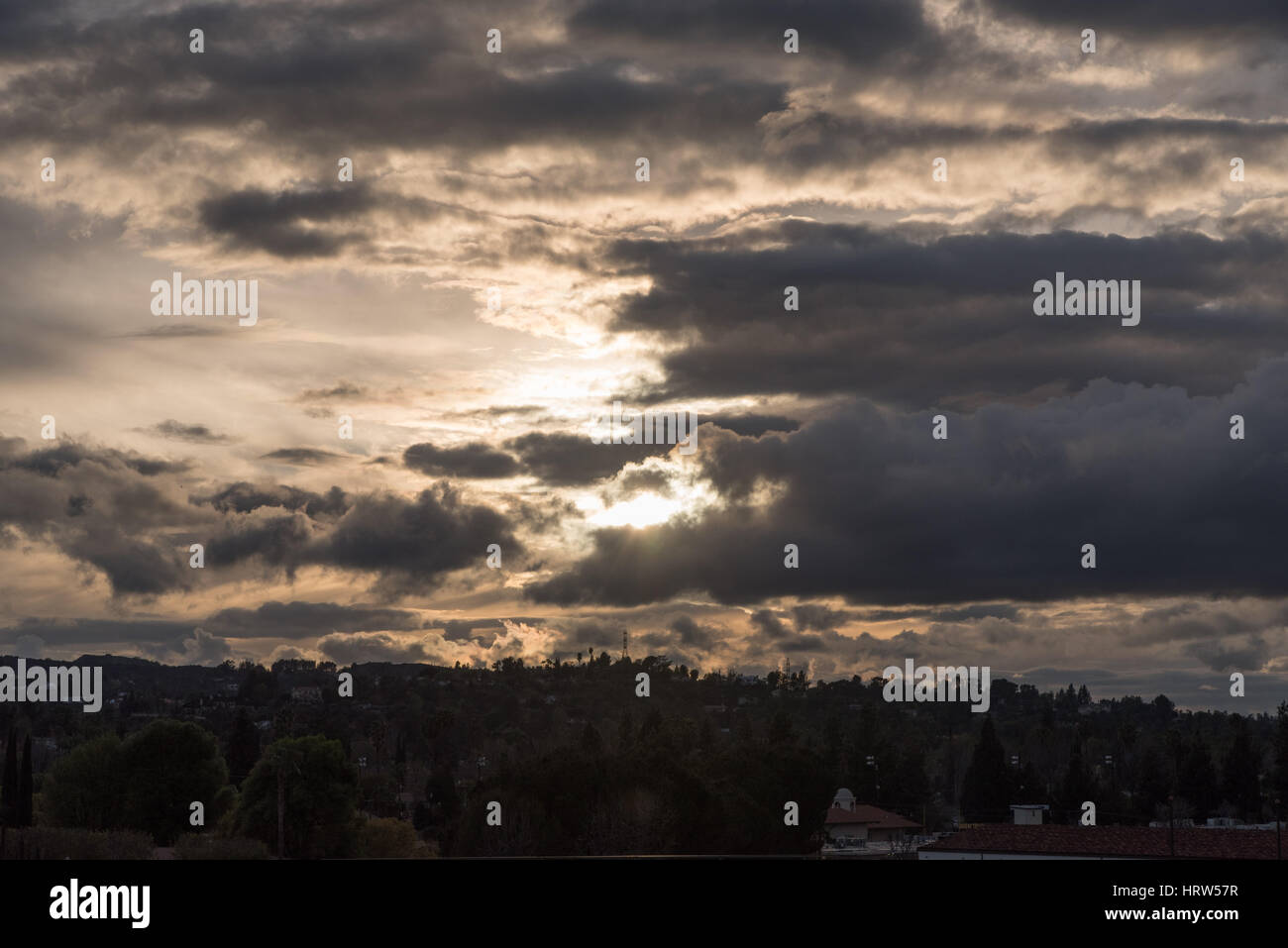 Sunset in Los Angeles - Stock Image