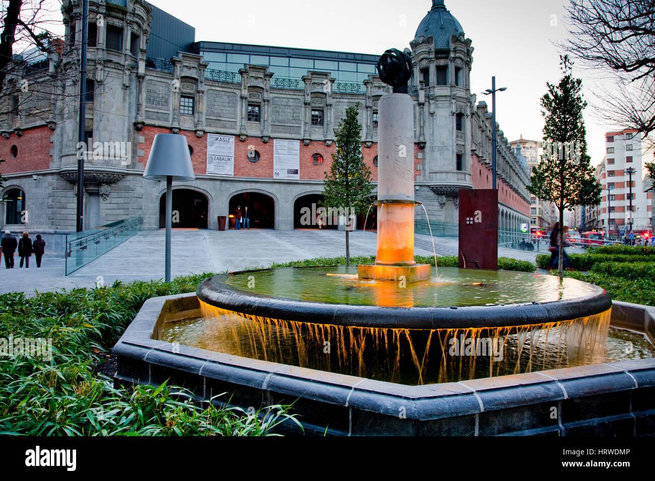 Alhondiga Bilbao (multi-purpose public edifice).  Bilbao, Bizkaia. Basque Country, Spain. - Stock Image